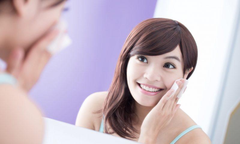 化粧水パッティング