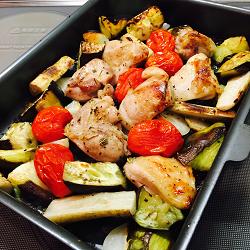 鶏肉と野菜のグリル 行程2