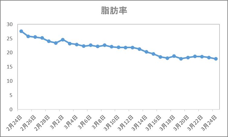 脂肪率のグラフ